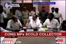 Watch: Congress MPs scold collector in public