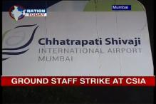Mumbai airport ground staff on strike