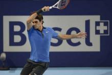 Federer beats Mathieu to enter Swiss final