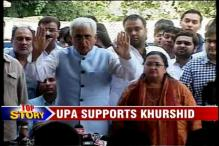 Government, Congress rally behind Salman Khurshid