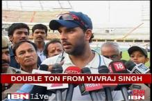 Yuvraj pleased as punch after double ton