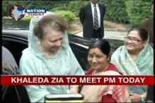 Khaleda Zia arrives in the capital, meets Sushma