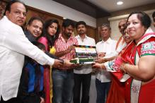 Vijay and Amala Paul at the muhurat of their new film