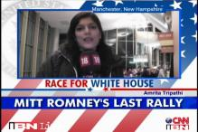 Romney ends campaign with rally in New Hampshire
