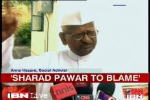 Sangli violence: Sharad Pawar to blame, says Anna Hazare