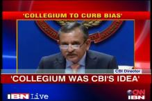 Outgoing CBI director favours collegium