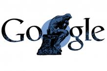 Google doodles Auguste Rodin's 'The Thinker'