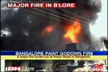 Bangalore: Fire in paints godown, no casualties
