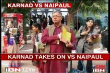Karnad attacks Naipaul for his views on Muslims