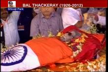 Bal Thackeray's funeral procession reaches Shivaji Park