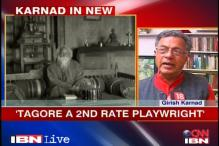 Girish Karnad sticks to his stand on Tagore