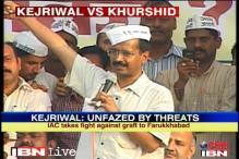 Kejriwal dares Khurshid to stop him in Farrukhabad