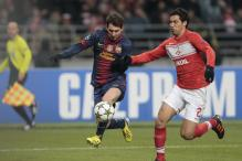 Messi scores twice as Barcelona beat Moscow 3-0