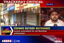 Mumbai wears a deserted look as doctors say Bal Thackeray is critical