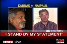 I have no regrets for publicly targeting VS Naipaul: Girish Karnad
