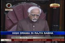 Rajya Sabha Chairman Hamid Ansari loses his cool