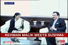 Expedite 26/11 trial in Pakistan, Sushma Swaraj tells Rehman Malik
