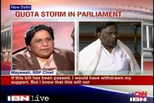 UPA not serious on quota bill, alleges Mayawati