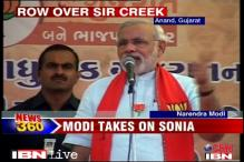 Gujarat elections: Sonia, Modi lock horns over Sir Creek