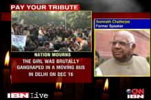 Delhi braveheart's death a national tragedy: Somnath Chatterjee