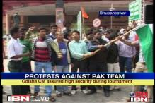 Odisha: ABVP protests against Pak women's cricket team visit