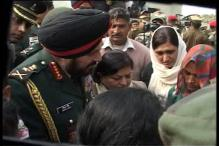 Army Chief Gen Singh meets martyr Hemraj's family in Kosi
