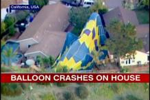 Watch: Hot air balloon holding wedding ceremony crash lands in US