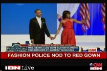 Inauguration ball: Michelle Obama rocks in red Jason Wu gown