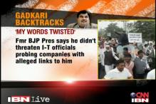 Gadkari denies threatening I-T officers probing Purti