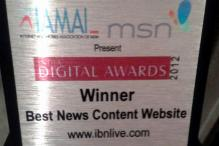 IBNLive.com wins India Digital best news website award