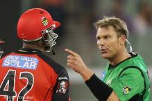 Warne and Samuels come to blows in Bag Bash match