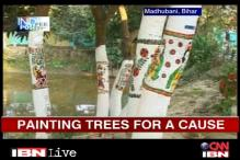 Bihar: People paint gods on trees to save them from being cut