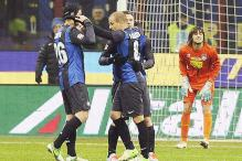 Inter beat Pescara 2-0 in Serie A to move to 3rd