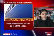 Govt may bite the bullet with first railway fare hike in 10 yrs