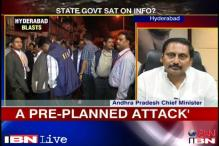 Andhra CM takes responsibility for Hyderabad blasts