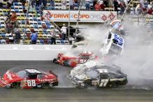 Dozens of fans hurt in NASCAR car crash