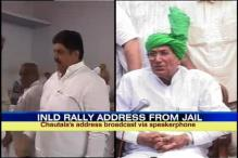 OP Chautala's son addresses rally from Tihar Jail using mobile phone