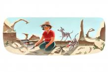 Google doodles Mary Leakey's 100th birthday