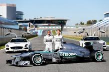 Lewis Hamilton unveils 2013 Mercedes car