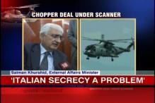 Chopper deal: Italian secrecy a problem, says Khurshid