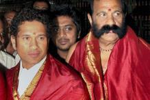 Snapshot: Sachin Tendulkar visits Tirupati