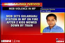 MP: Mob sets railway station on fire after 2 kids mowed down by train