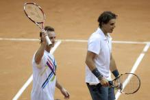 Nadal wins doubles debut at Brazil Open
