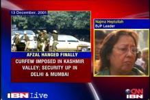 Afzal Guru hanged: Najma Heptullah remembers the day Parliament was attacked