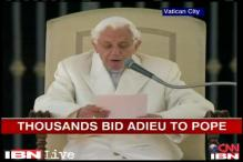 Farewell to Pope Benedict XVI, thousands gather to bid adieu