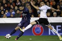 Lavezzi and Pastore score as PSG beat Valencia 2-1