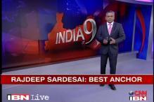 Rajdeep Sardesai gets best news anchor award