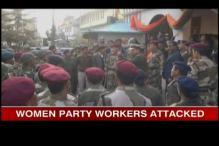 Women workers of Sikkim Krantikari Morcha beaten up by police