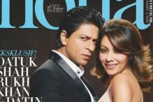 Snapshot: Gauri and Shah Rukh Khan feature on the cover of 'Nona'