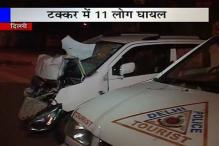 Delhi: 8 people, 3 policemen injured as car rams into PCR van